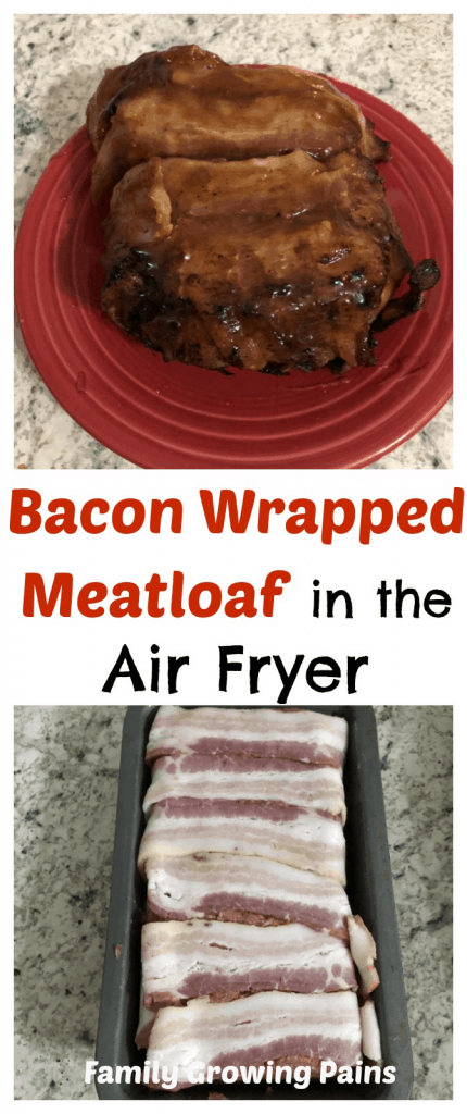 Bacon Wrapped Meatloaf in the Air Fryer