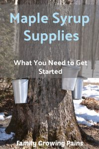 01887d5ac70 Maple Syrup Supplies  Tapping Your Own Maple Trees » Family Growing ...