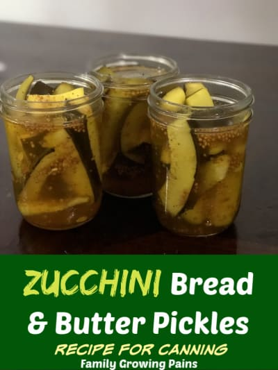 Zucchini Bread and Butter Pickles