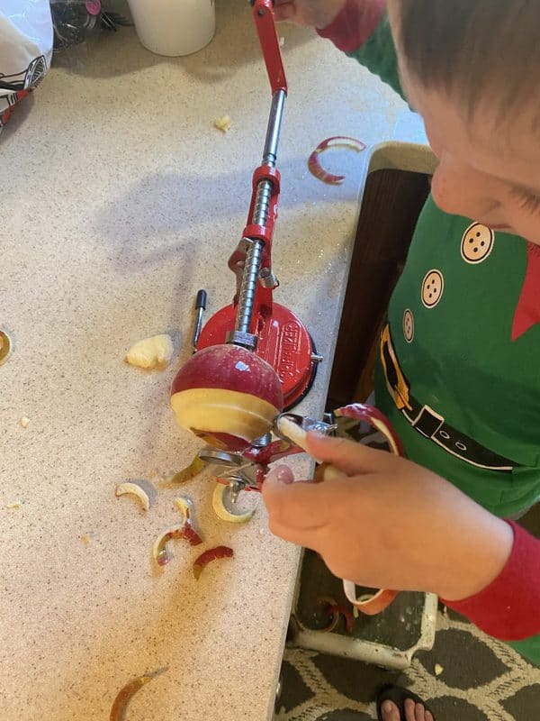 Making apple butter recipes is so much easier with a peeler, corer, and slicer.